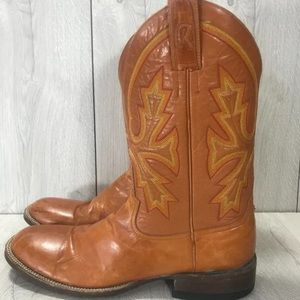 ROD PATRICK Flame Stitch Western Boots 12.5AAA